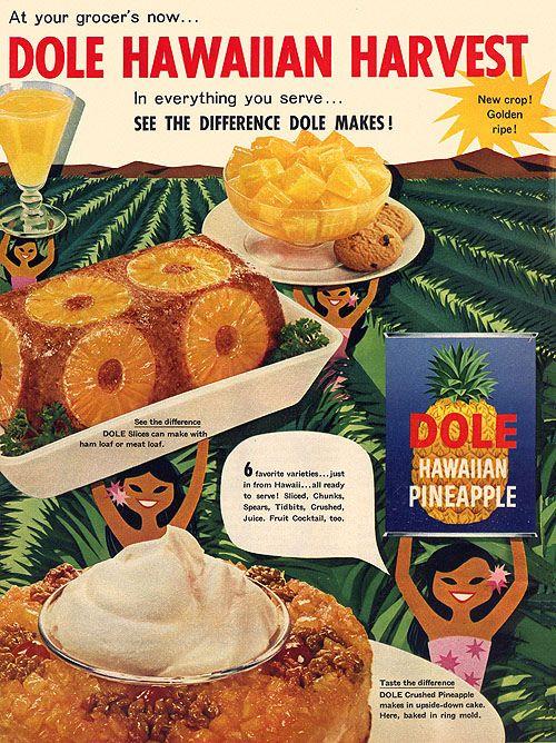 Happy Hula Girls Present The Dole Hawaiian Harvest!  (Dole Pineapple, 1957)