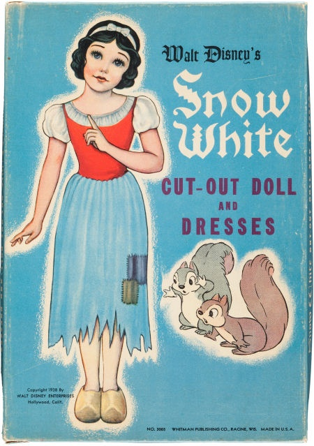 Snow White Cut-Out Doll and Dresses Set Whitman Disney 1938