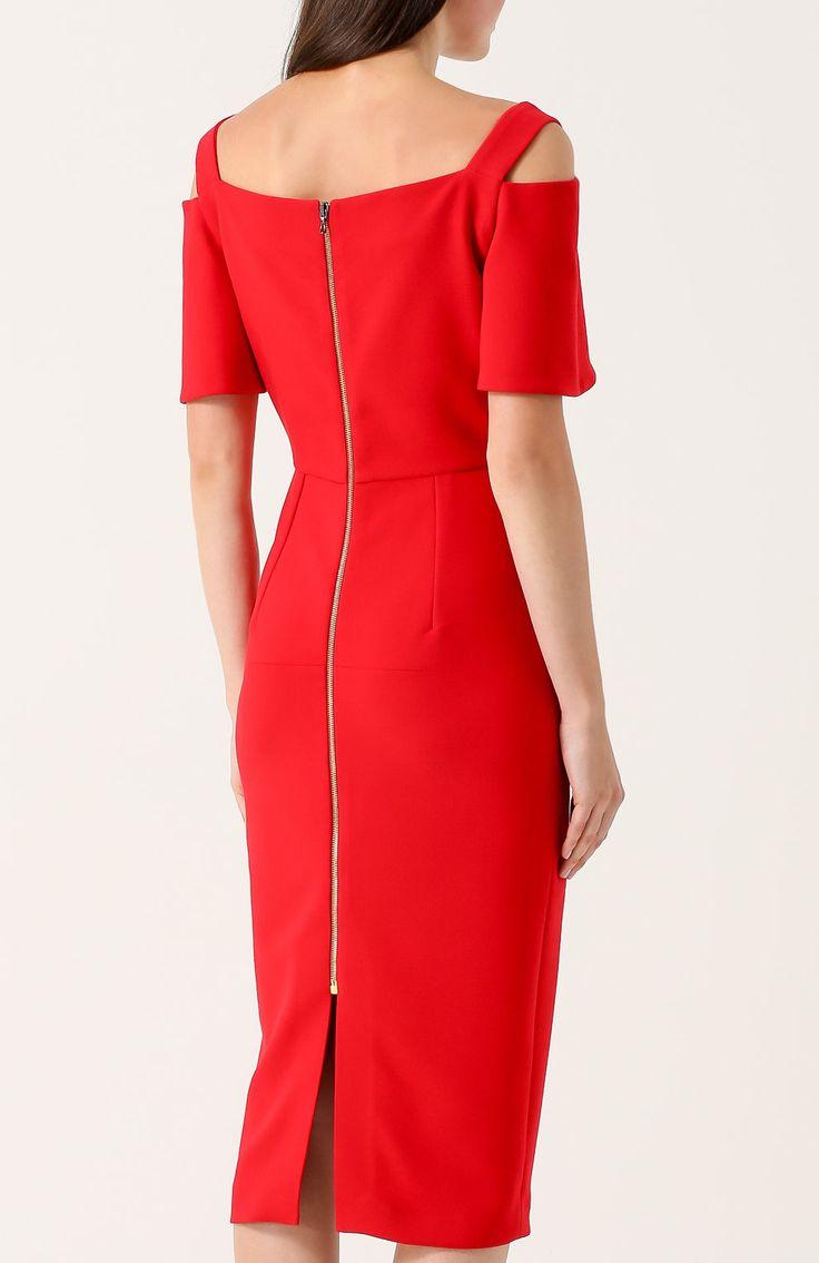 красное открытое платье купить