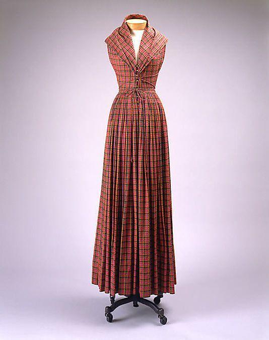 cotton evening dress, c1952