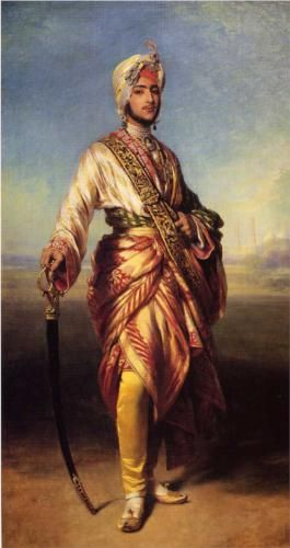 The Maharaja Dalip Singh - Franz Xaver Winterhalter, 1854,  Royal Collection, Windsor Castle