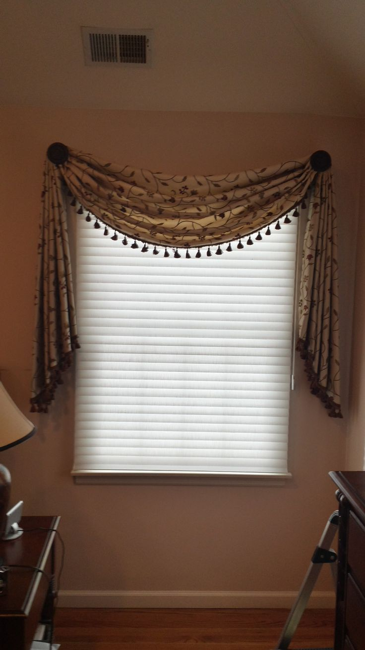 Casual swag mounted on rosettes i love to add how the Simple window treatments