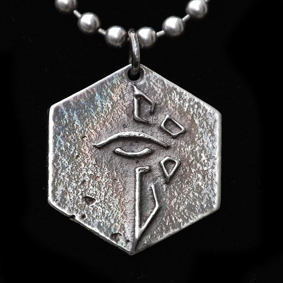 Sterling Silver Ingress Game Enlightened Pendant