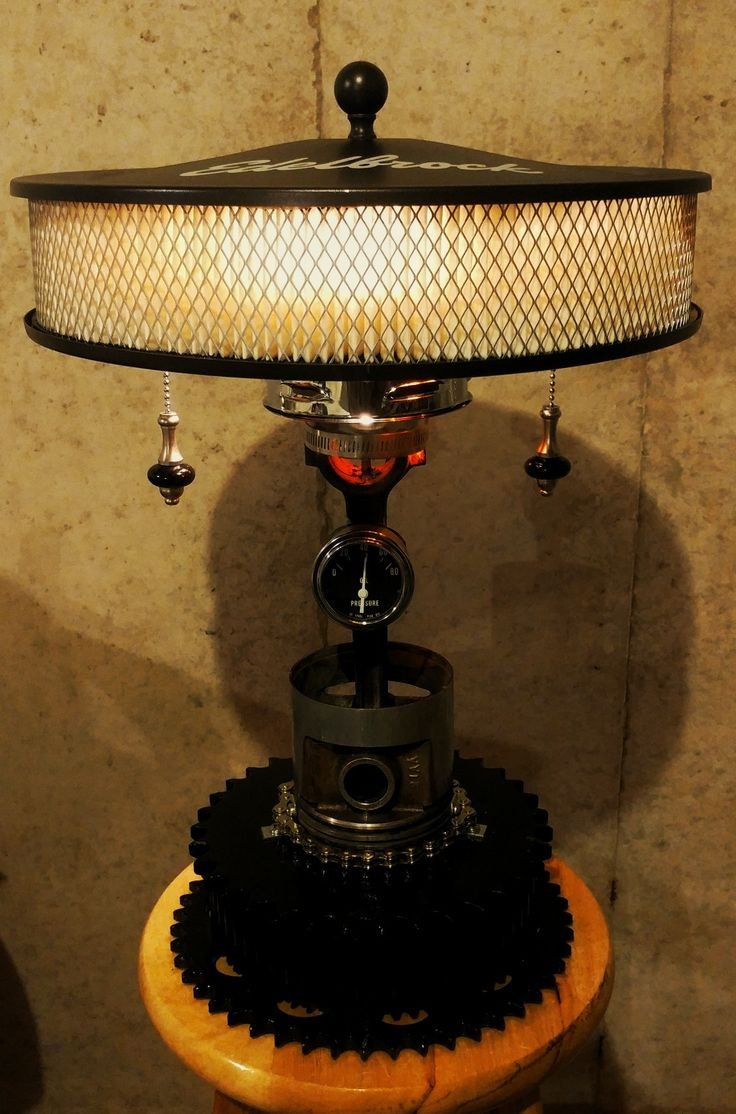 Air filter piston lamp Automotive decor, Unusual