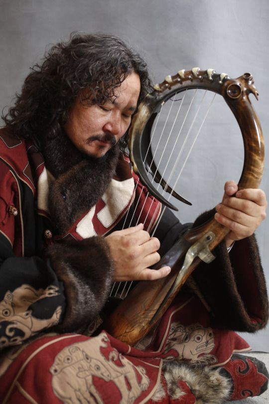 In 2008, pieces of a 1500 year old stringed instrument made from wood and carved goat horn were found in a cave in the Altai mountains in Mongolia by someone chasing a lost sheep. After several years of study and experimentation, Mongolian ethnomusicologist Ganpurev Dagvan has recreated the instrument. He is currently on a world tour with a folk music band to introduce the goat-horn harp to the world.