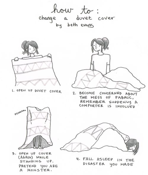 This also tends to happen to the cat when I make the bed - cute fax cover sheet
