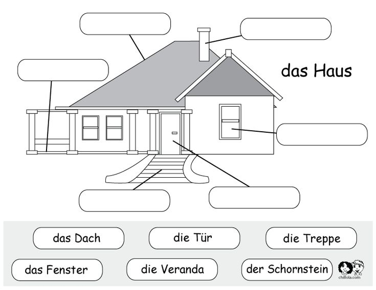 german printable worksheet house