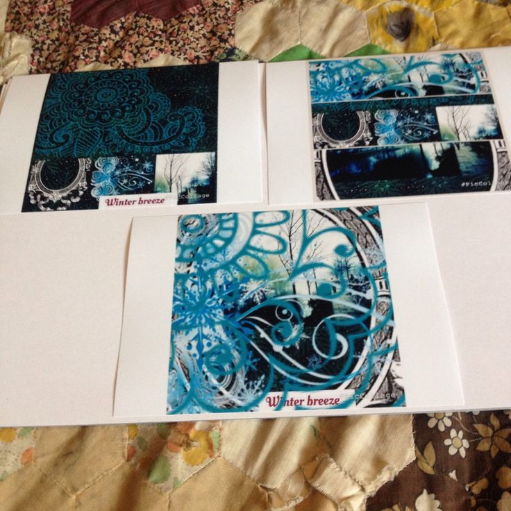 New stock winter breeze collection 6x4 prints with a winter theme created on piccollage yet to be framed and listed