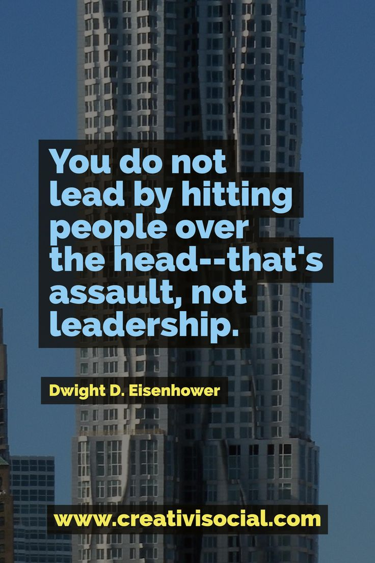 Be a great leader!
