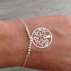 Bracelet en argent 925 perles et arbre de vie