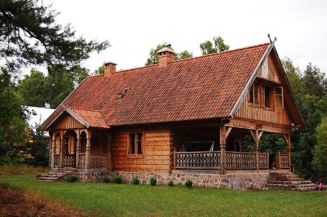 góralski dom drewniany z bali