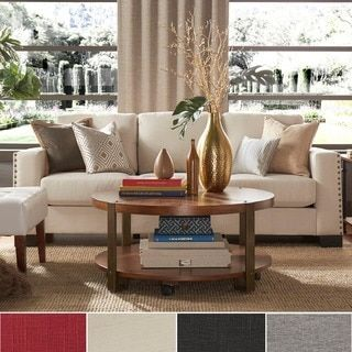 Shop for INSPIRE Q Torrington Linen Nailhead Track Arm Sofa and more for everyday discount prices at Overstock.com - Your Online Furniture Store!