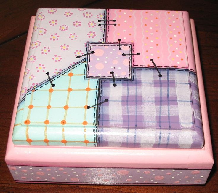caja simil patchwork