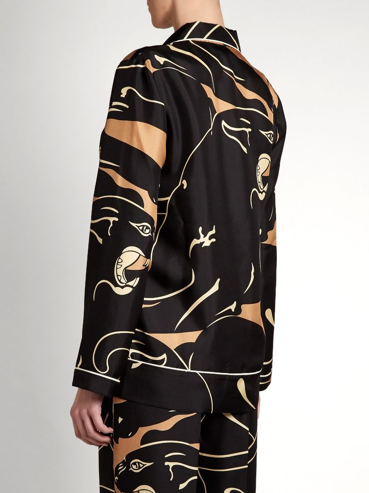 Panther-print pyjama top | Valentino | MATCHESFASHION.COM