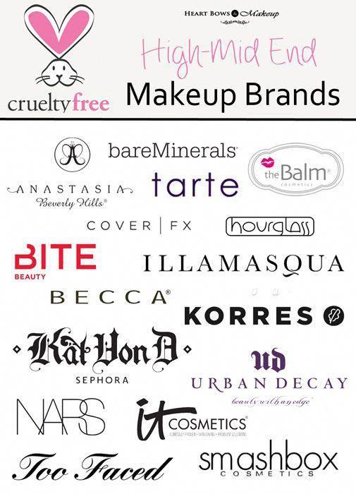 Cruelty Free Makeup Amp Cosmetic Brands High End Mid Range Eyemakeupbrushesseturbandecay