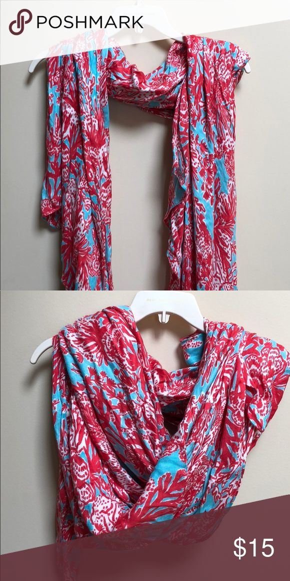 Lilly Pulitzer Coral Scarf New Lilly Pulitzer coral print scarf. Soft material and easy to drape Lilly Pulitzer Accessories Scarves & Wraps