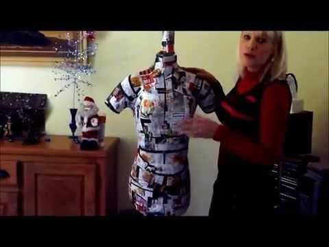 Dans cette vidéo je vous montre comment confectionner soi-même un mannequin de couture à moindre coût.