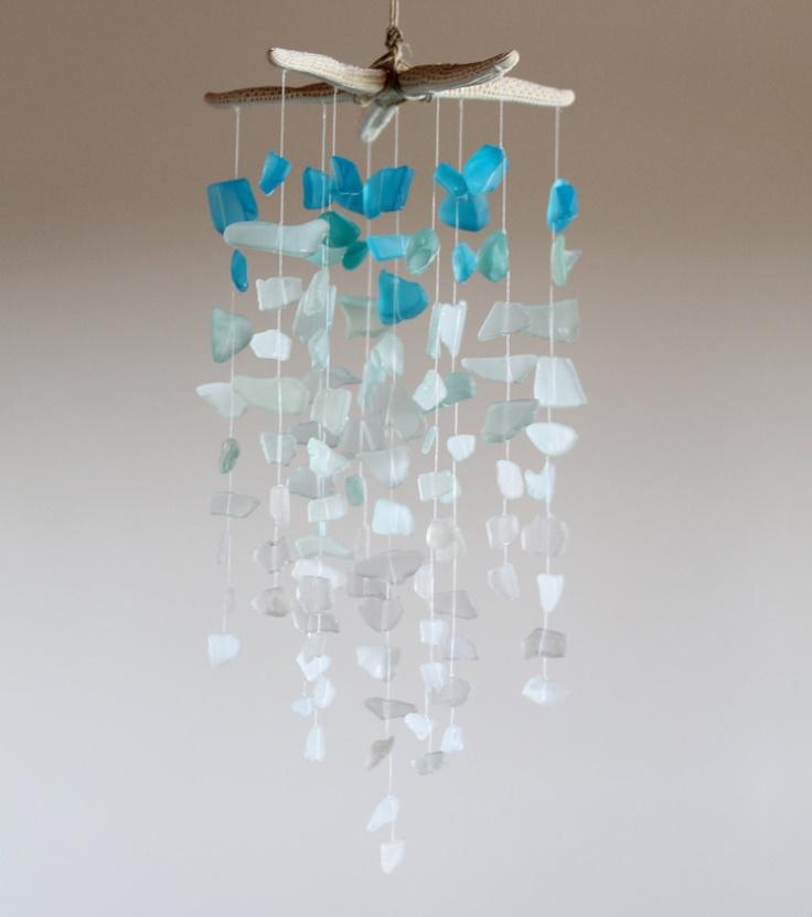 Sea Glass & Starfish Mobile - Ombre Blues, via Etsy.