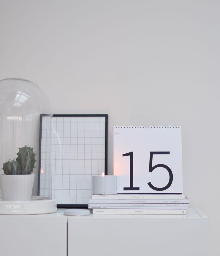 Ein Evergreen im plakativ minimalistischen Look, dem der Wandel der Zeiten nichts anhaben kann. Der ständige Kalender vom britischen Label Nor-Folk verkündet beharrlich und elegant den aktuellen Tag.