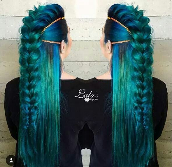 Not the colour but I love the faux-hawk braid style