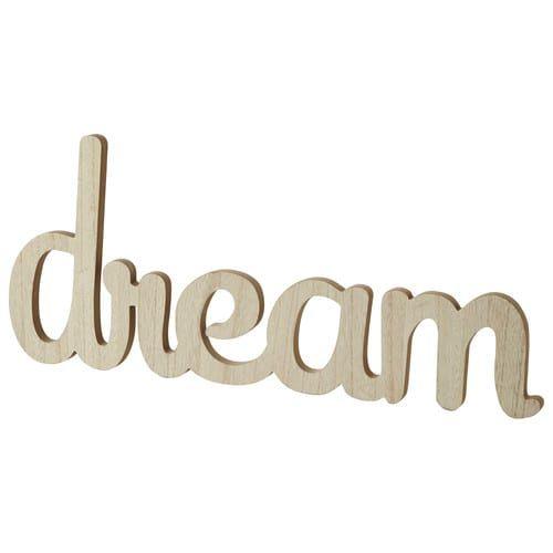 Déco murale en bois L 65 cm DREAM