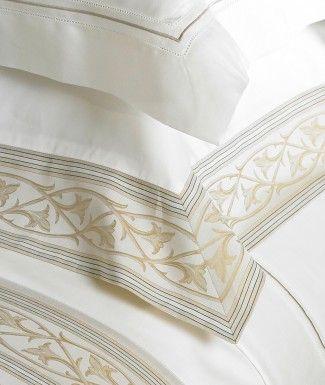 Elisa Italian cotton sateen fine bed linens