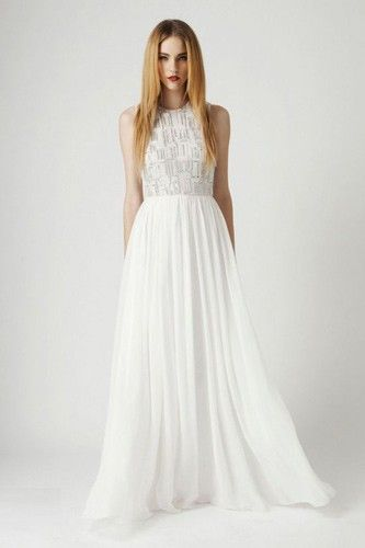 16 Stunning Wedding Frocks For Every S.F. Winter Bride #refinery29  http://www.refinery29.com/39474#slide-7  Rachel Gilbert Sian White Gown, $1,295, available at Frockaholics....