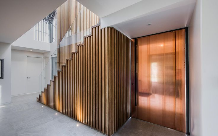 Staircase and door