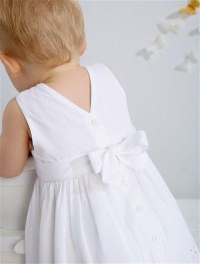 Robe de cérémonie sans manches bébé fille FUCHSIA+BLANC - vertbaudet enfant
