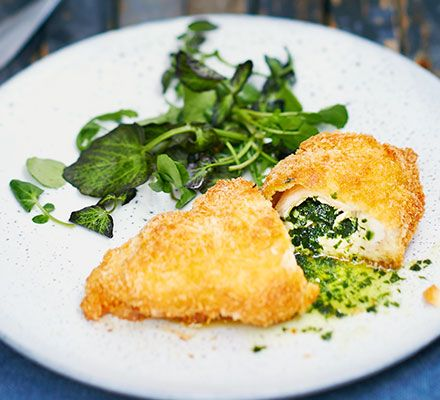 This classic family favourite gets a gourmet makeover with a wild garlic butter filling and a crunchy panko breadcrumb coating