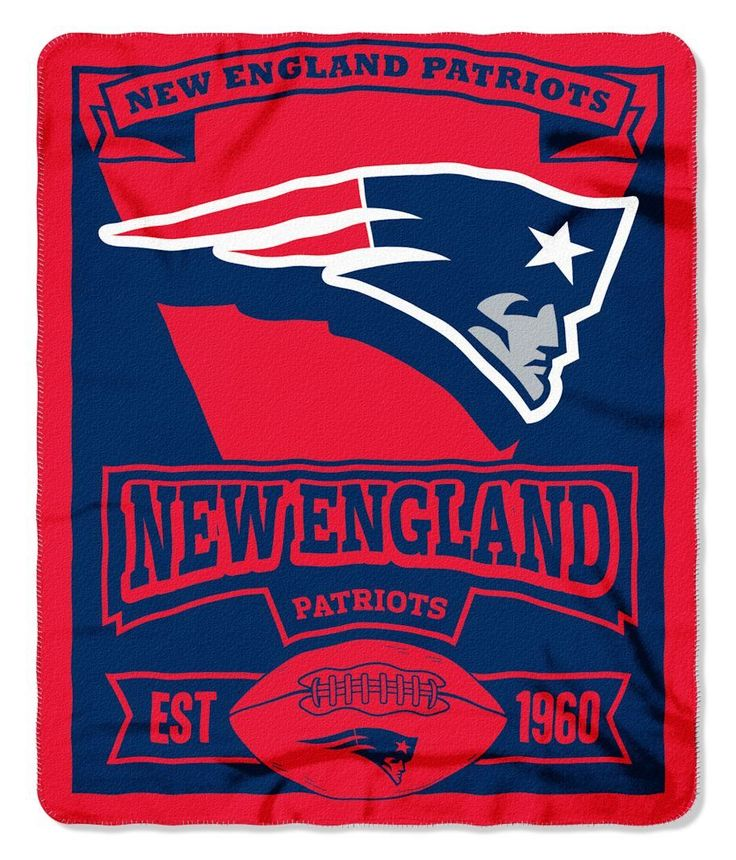 New England Patriots 50x60 Fleece Blanket - Marque Design (backorder)