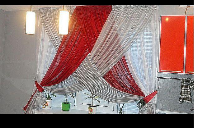 cortina en 2 tonos cruzada