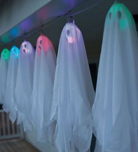 40 Inch Long Floating Ghost Battery Operated String Lights by HearthSong . USD 19.98. Requires 2 AA ...