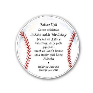 baseball invite template