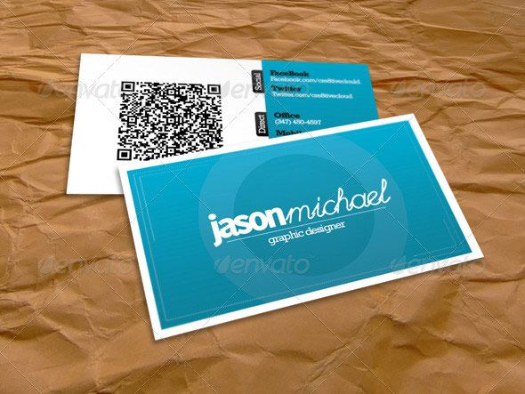 42 best qr code business card images on pinterest business card 25 qr code business card templates wajeb Image collections