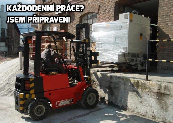 You: Are you ready for everyday work? It: I am ready! Forklift Desta that is more than ready. http://rosservis-vysokozdvizne-voziky.cz/ Vysokozdvižné vozíky Desta od Rosservis.