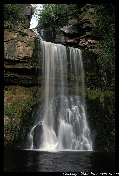 Thornton Force waterfall in Yorkshire Dales, England