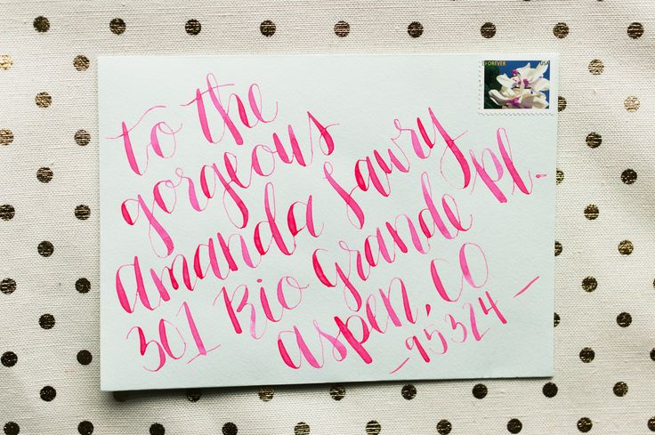 Hot pink calligraphy yes please photo by nicole berrett