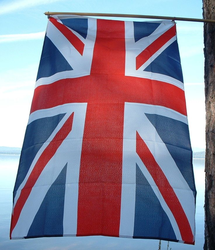 Your very own British Union Jack flag! This nylon colorfast and hard wearing large fabric flag measures 3 feet by 5 feet with metal grommets for hanging. It is a great piece. Especially fun on the 4th