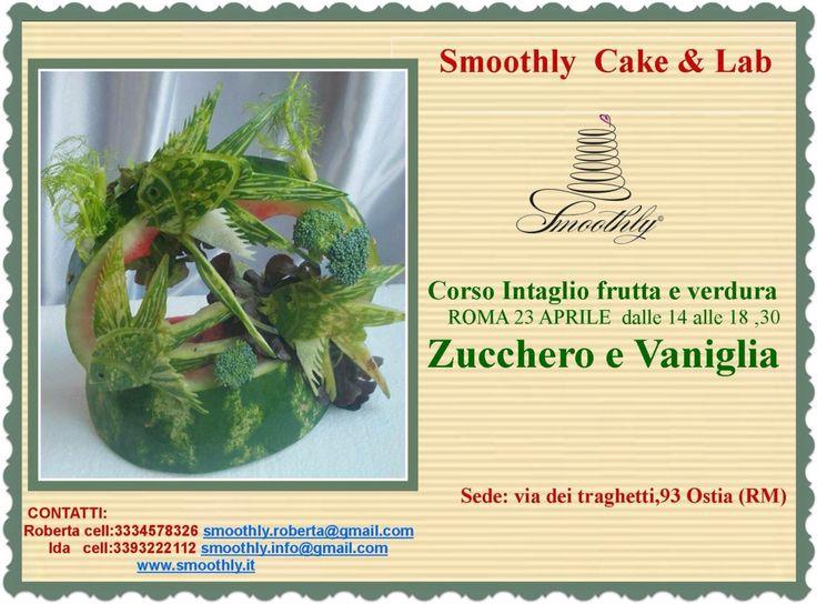 Corso di intaglio frutta e verdura per decorare anche prima del dolce ! Prenotate ora il vostro posto!
