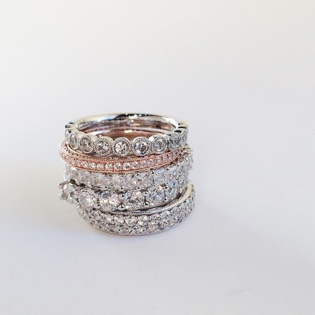 #stackables #rings #jewelry #diamonds #anniversaryband #sopretty #vscocam #mpls