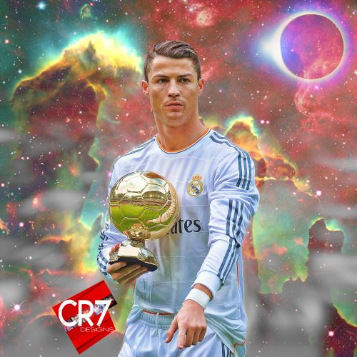 Cristiano Ronaldo in Real Madrid Design, made by CR7 Designs.