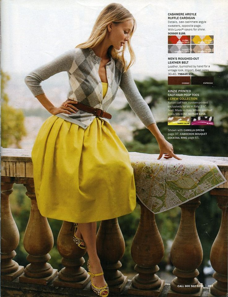 fall outfit: Cardigans, Argyle Sweaters, Full Skirts, Yellow Dresses, Color, Outfit, Yellow Skirts, The Dresses, Belts