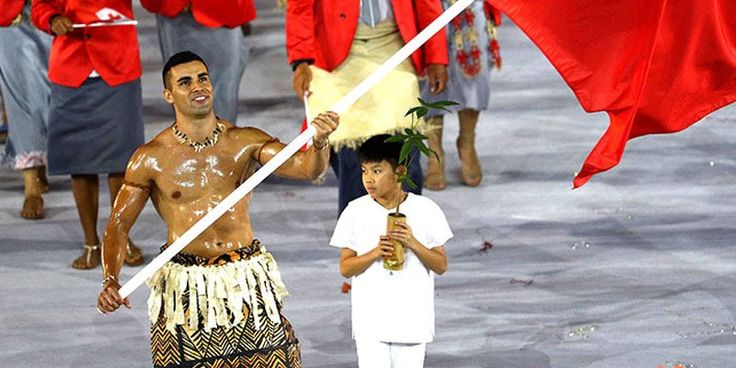 "People Magazine on Twitter: ""An Olympic hunk has arrived! Shirtless Tonga flag bearer steals the show at #OpeningCeremony https://t.co/Bg96jD8AF9 https://t.co/IfCivhIo6g"""
