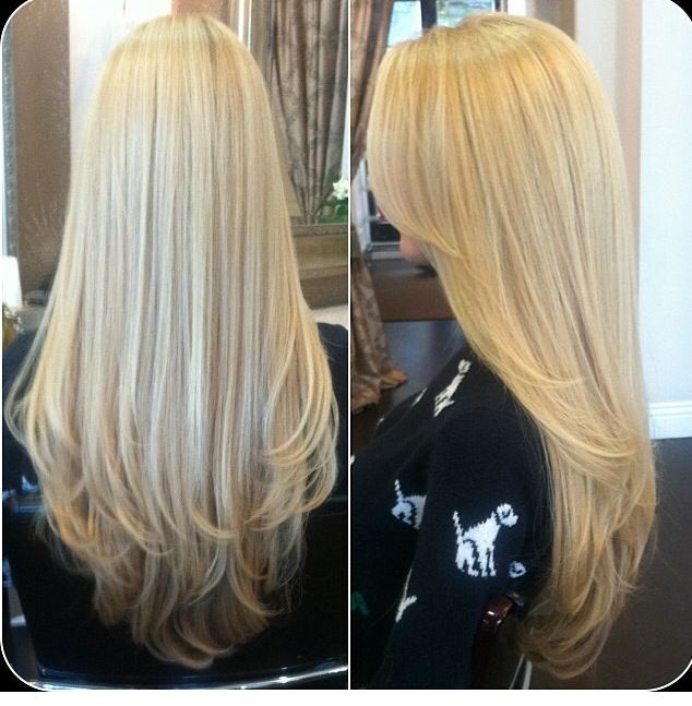 15 Inspirations Of Long Blonde Hair Colors: 30 Best Images About Cheveux Long On Pinterest