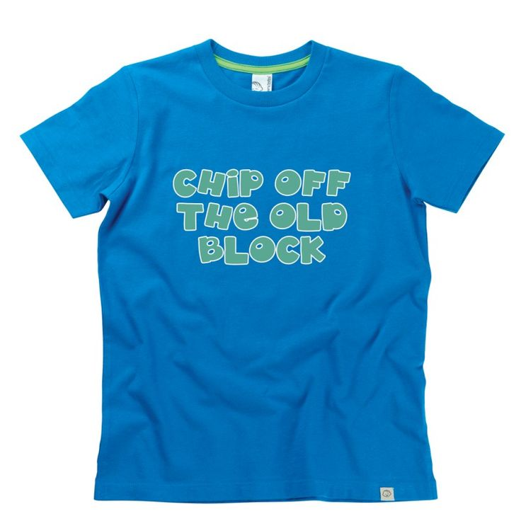 Chip Off The Old Block Kids T-Shirt by Hairy Baby
