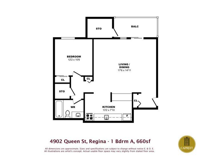 Apartments For Rent Regina   Southwood Green Apartments, 4902 Queen Street, One  Bedroom