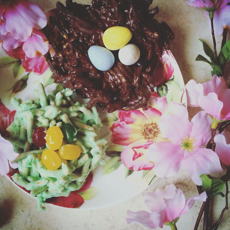 Need an easy DIY for the kids? On a budget this Easter? Want to look like you put more work into dessert than you actually did? Here are my Chocolate Easter Nests to help you out. http://katiejoannas.blogspot.com/2016/03/easy-kid-friendly-under-10-diy.html?m=1