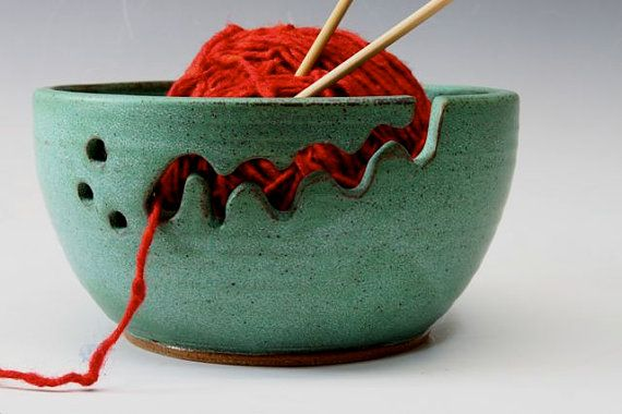 Keramische Garne Bowl Schüssel strickenden von bridgespottery