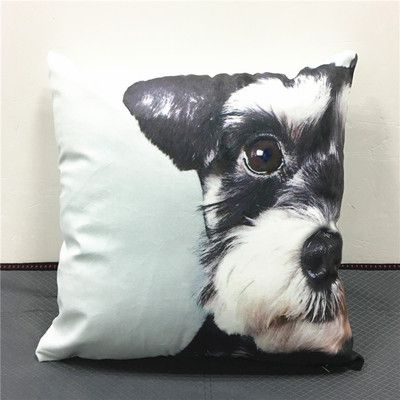 100% Free plus Shipping Cartoon Schnauzer Dog Printed Car Throw Pillows Cases Soft Material Cushion Covers For Kids Baby Bedroom Home Decor 40X40cm